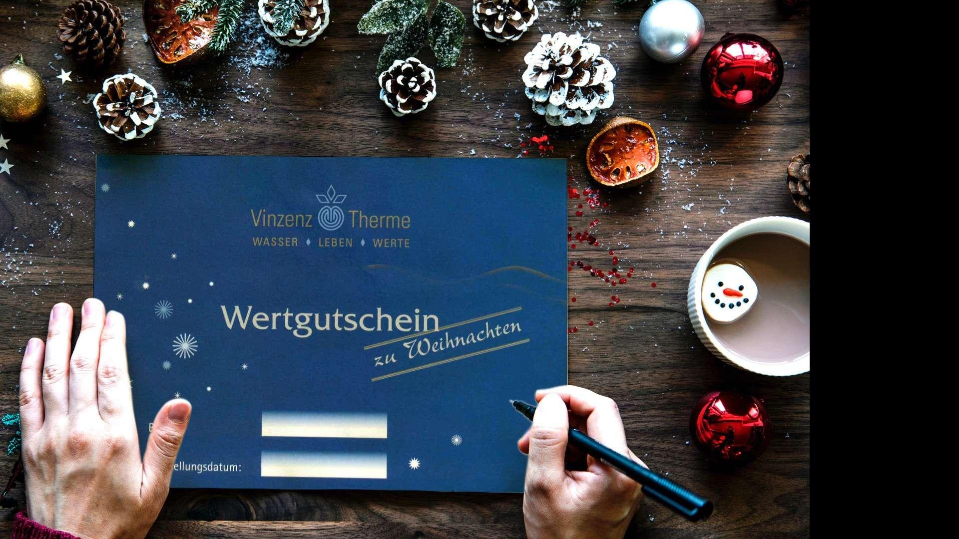 Geschenkidee Wertgutschein Vinzenz Therme Weihnachtsgeschenk